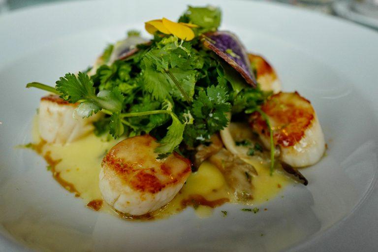 Scallops at Georges restaurant Pompidou Center Paris