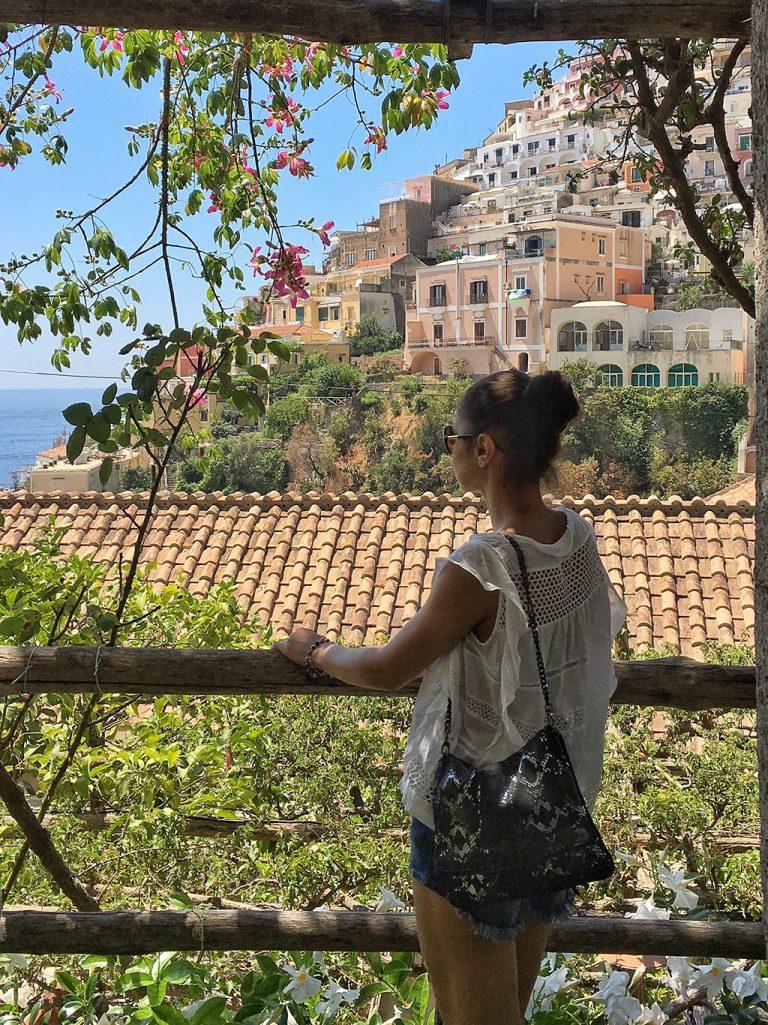 Vue sur les maisons de Positano