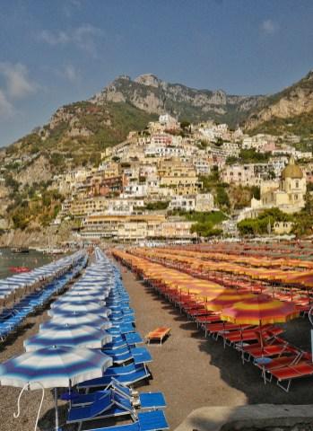 Grande plage de Positano Italie