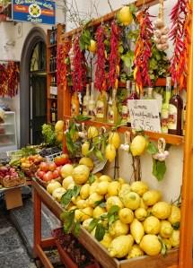 Produits locaux, côte amalfitaine, Italie