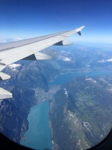 Lakes, view from the sky Lombardy