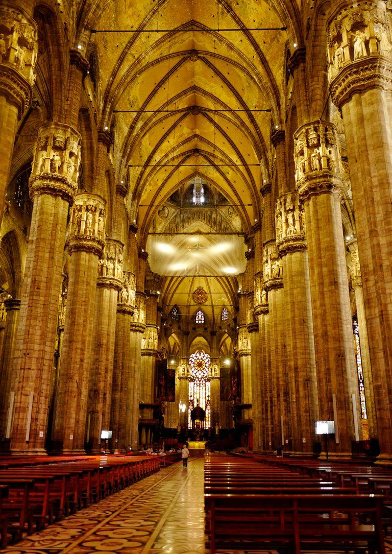 Inside Duomo Milan