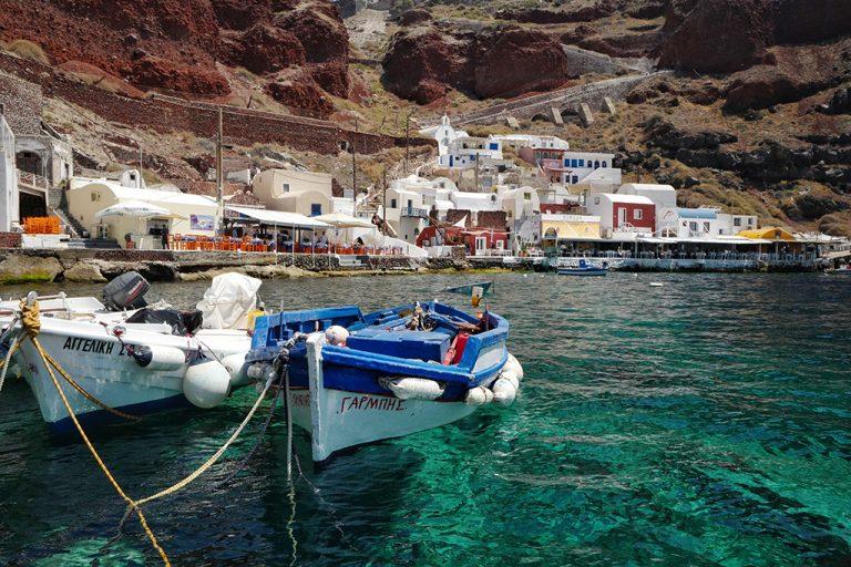 Port d'Ammoudi Oia, Thira Grèce