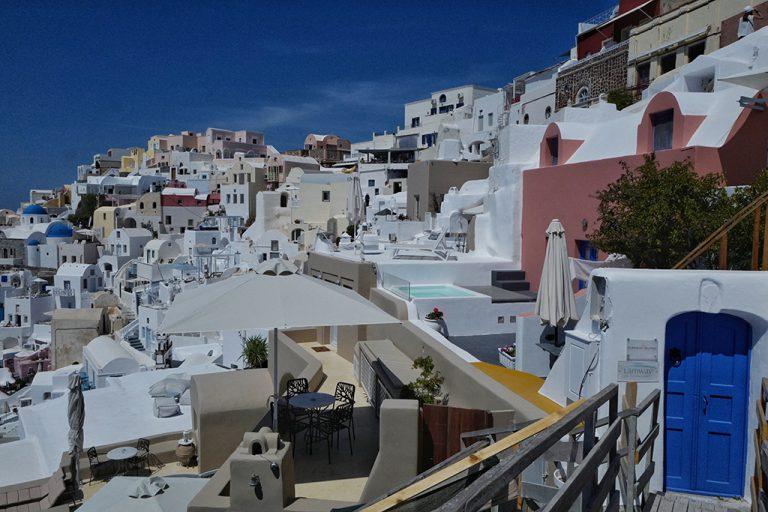 Maisons à Oia, Thira Grèce