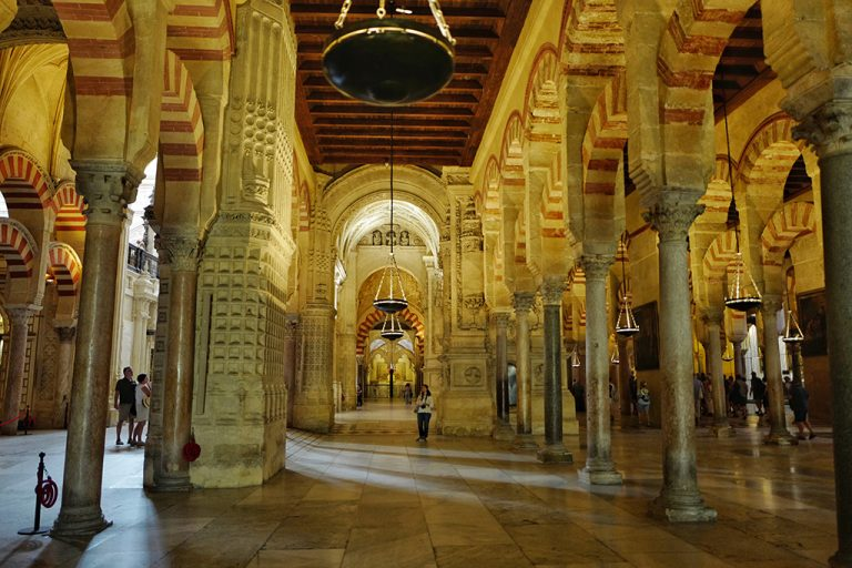 Central nave of the Mosque of Cordoba