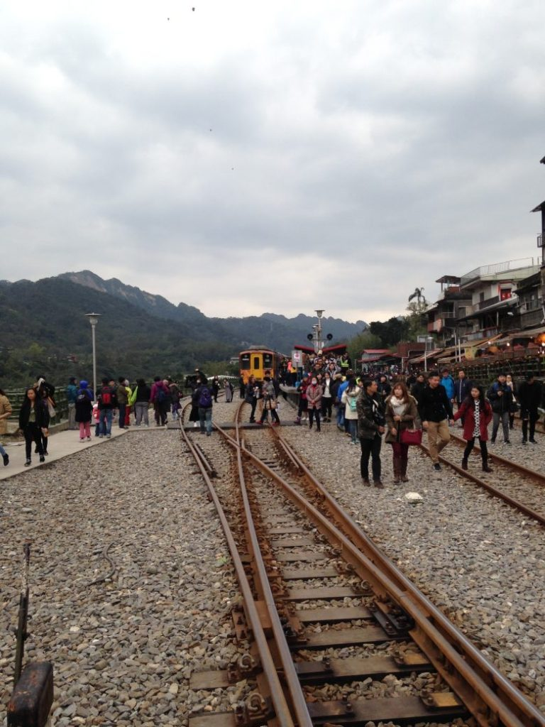 Pingxi station with laterns