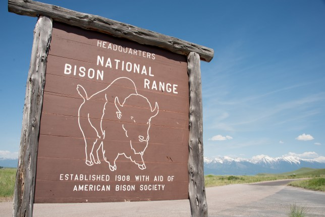 Bison National Range Big Sign