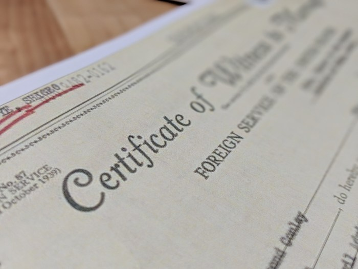 Visa documents - Certificate of Witness to Marriage