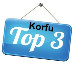 Top 3 destinations on Corfu