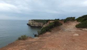 Walks in the hotel area on the coast of the Algarve
