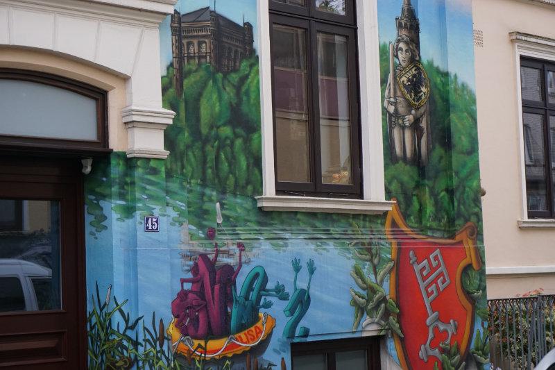 Street art in Bremen - Roland, Wappen