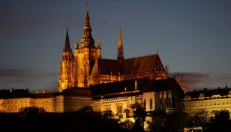 St. Vitus Cathedral – high above the rooftops of Prague