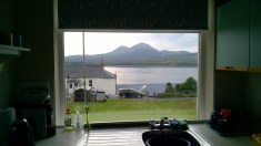 View from the apartment to Jura (Photo by Elina Mäntylä)