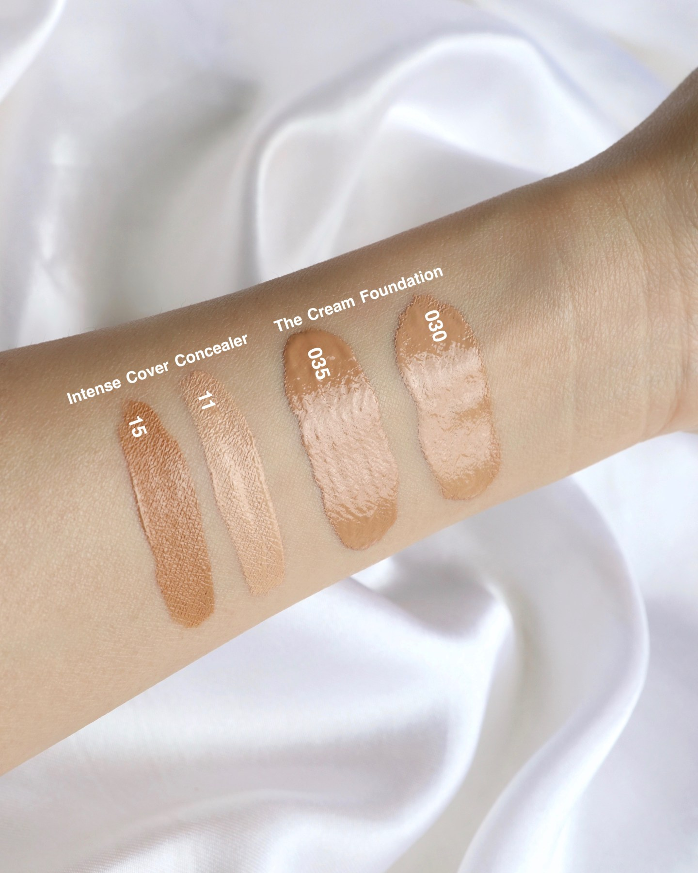 SUQQU Intense Cover Concealer Swatches