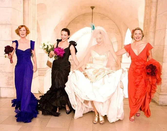 SATC-Samantha-Miranda-Charlotte-BRIDESMAID-Carrie-BIG-Wedding