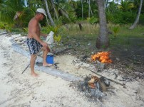 burning our solid waste and the rubbish that had piled up on the island