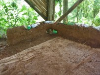 using plastic bottles and other rubble as filler