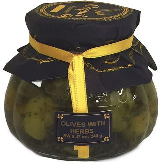 Seasoned Whole Green Olives from Spain