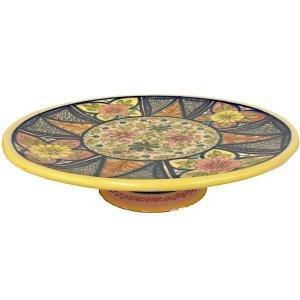 Hand Painted Ceramic Cake Plate from Spain