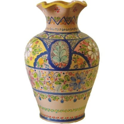 Hand Painted Ceramic Vase from Spain