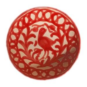 8 inch Red Bird Bowl