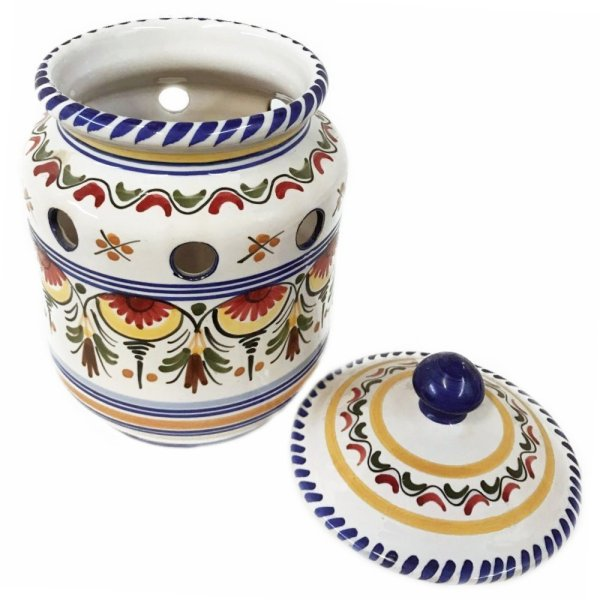 Multicolor Ceramic Garlic Keeper