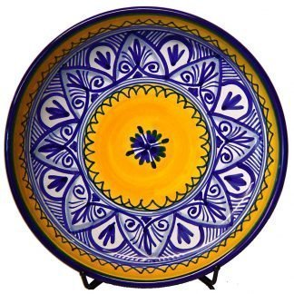 Authentic Ceramic Tapas Plate. Fiesta Yellow