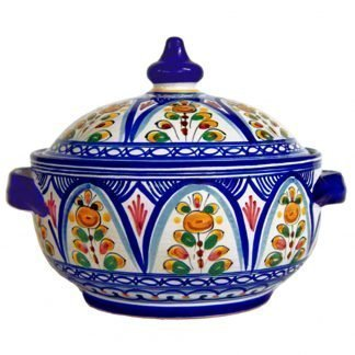 Ceramic Covered Tureen from Spain