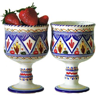 Spanish ceramic sangria glasses from Spain