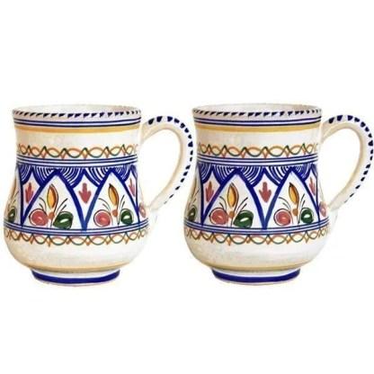 Hand Painted Spanish Ceramic Mugs