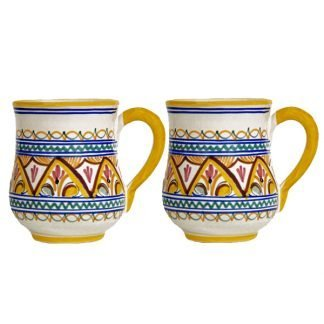 Hand Painted Ceramic Seville Mug from Spain