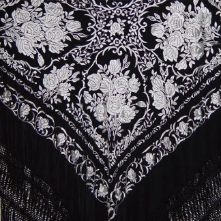 Spanish Silk Manila Shawl