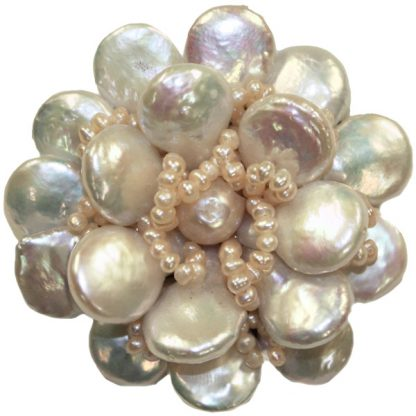 Unique Handmade Pearl Flower Pin