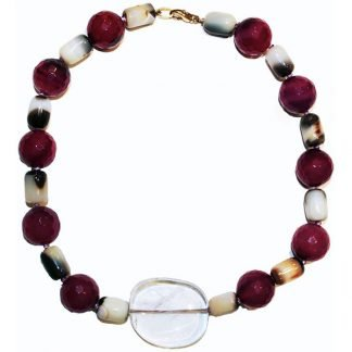Handmade Cherry Agate Necklace