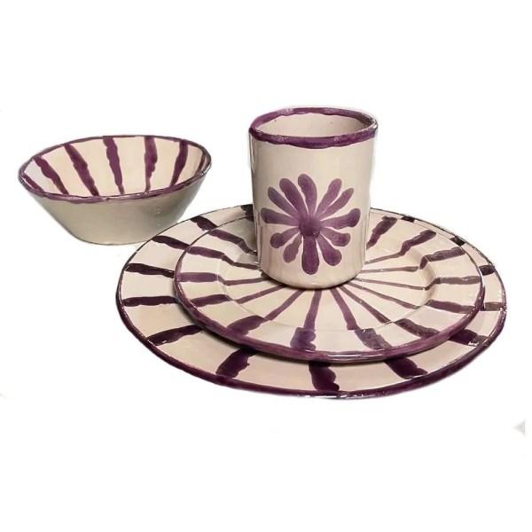 Purple Ceramic Plates
