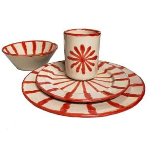 Red Dinner Plate Set