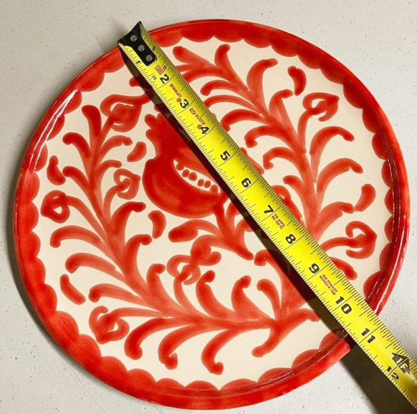Red Pomegranate Plate