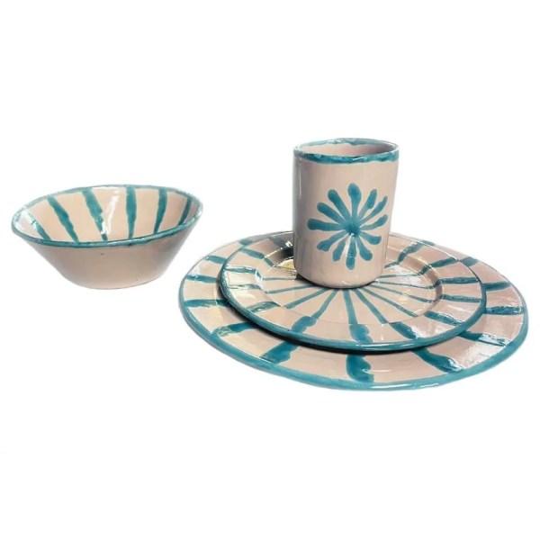Tuquoise Dinnerware Set