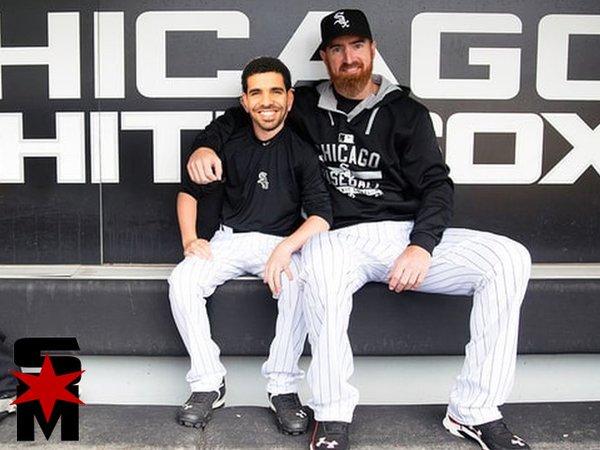 Adam LaRoche with Drake