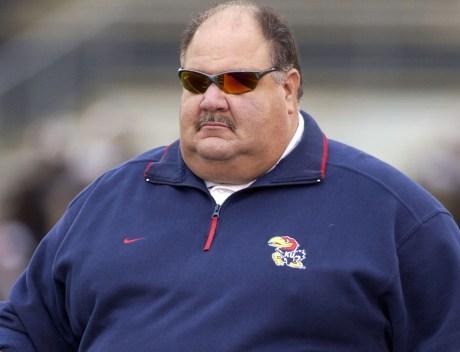 Head Coach Mark Mangino of Kansas .  John Rieger - Ai Wire 11/20/04