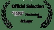 <h5>Access Code Film Festival </h5><p>Access Code Film Festival Official Selection</p>