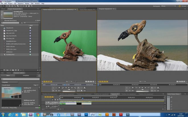 Chromakeying 660x413 - How do I make a film when there is no money?