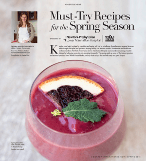 Spring Recipes for NY Presbyterian : Whole Foods Events P 1.
