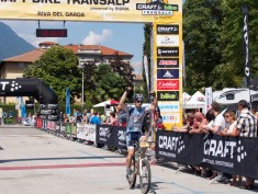 Paul Stockamore at TransAlp 2015 Finish in Riva del Garda, Italy