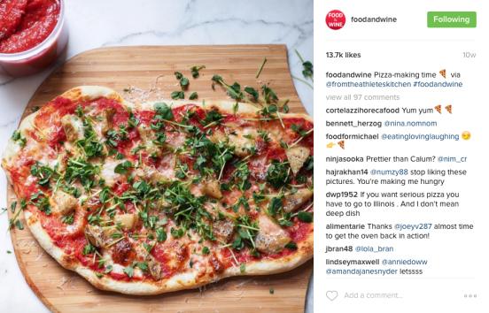 Food & Wine Instagram - Pizza