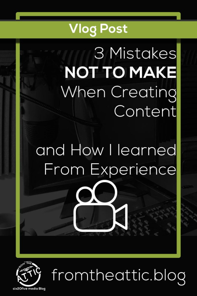 # Mistakes NOT to Make when Creating Content
