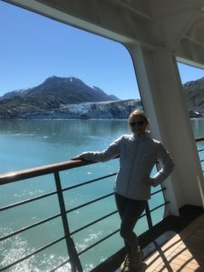 In Glacier Bay National Park with Margerie Glacier. We got to see and hear her calve!