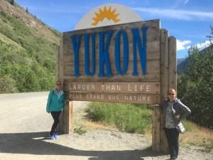 Entering the Yukon Territory, Canada