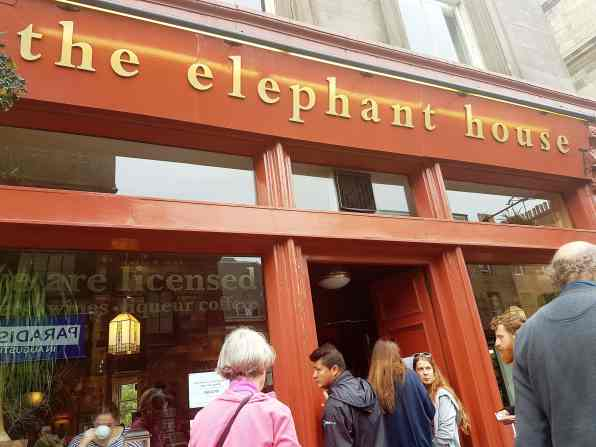 The Elephant House Cafe, fromthecornertable, from the corner table