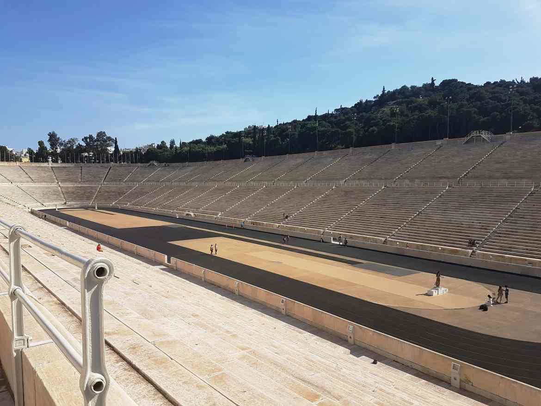 Athens Panathenaic Stadium, from the corner table, #fromthecornertable